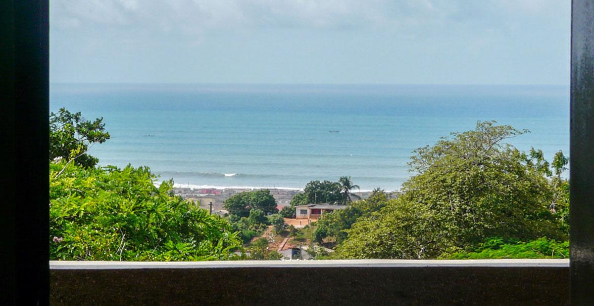 Window view of the ocean